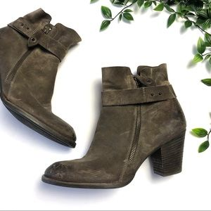 Paul Greene Dallas Nubuck Leather Ankle Boot